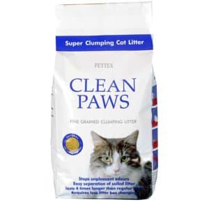 Pettex Clean Paws Super Clumping Cat Litter
