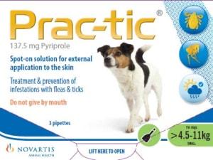 Prac-Tic Flea & Tick Treament for Small Dogs (4.5-11kg)