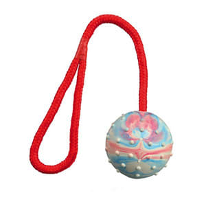 Trixie Natural Rubber Pink Ball with String