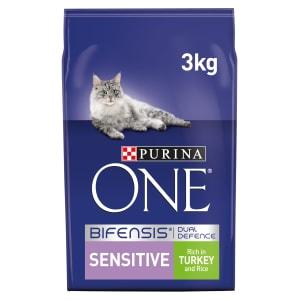 Purina ONE Sensitive Adult Dry Cat Food - Turkey & Rice