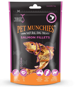 Pet Munchies Natural Medium Dog Treats - Salmon