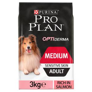 Purina Pro Plan Opti Derma Sensitive Skin Medium Adult Dry Dog Food - Salmon