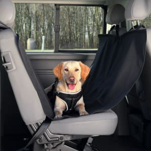 Trixie Deluxe Non-Slip Dog Car Seat Cover in Black