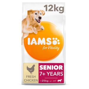Iams Vitality Senior Large Breed Dry Dog Food - Chicken