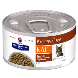 Hill's Prescription Diet Kidney Care k/d Adult Wet Cat Food - Stew with Chicken & Vegetables