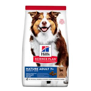 Hill's Science Plan Medium Mature Adult 7+ Dry Dog Food - Lamb & Rice