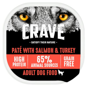 Crave Natural Grain Free Adult Wet Dog Food Tray - Turkey & Salmon in Loaf