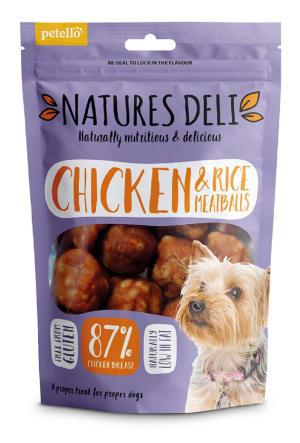 Natures Deli Meatball Adult Dog Treats - Chicken & Rice