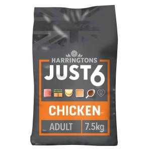Harringtons Just 6 Adult Dry Dog Food - Chicken & Vegetables