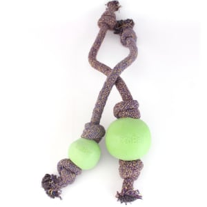 Beco Pets Ball on Rope Dog Toy in Green