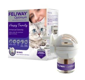 Feliway Optimum Starter Kit Plug-In Refill Diffuser