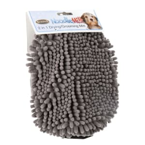 Scruffs Noodle Grooming Comb & Drying Mitt in Grey