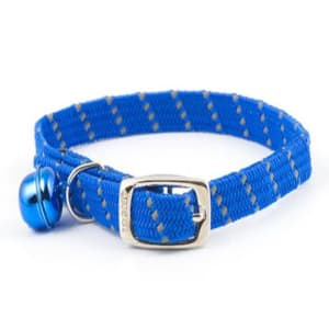 Ancol Reflective Softweave Elastic Cat Collar in Blue