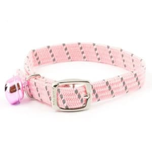 Ancol Reflective Softweave Elastic Cat Collar in Pink