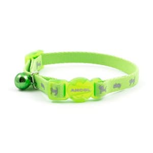 Ancol Hi-Vis Nylon Reflective Safety Kitten Collar in Green
