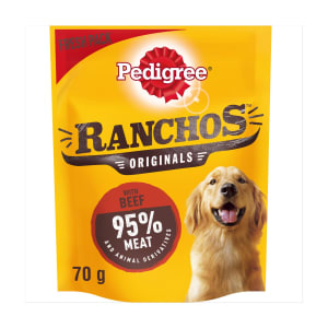 Pedigree Ranchos Dog Treats - Beef