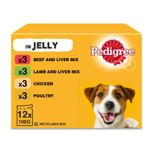 Pedigree Adult Wet Dog Food Pouches - Mixed Selection in Jelly