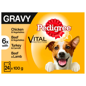 Pedigree Adult Wet Dog Food Pouches - Mixed Selection in Gravy