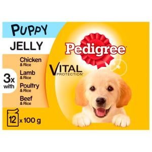 Pedigree Puppy Wet Dog Food Pouches - Mixed Selection in Jelly