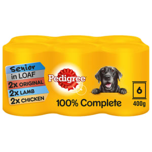 Pedigree Senior Wet Dog Food Tins - Meat Selection in Loaf