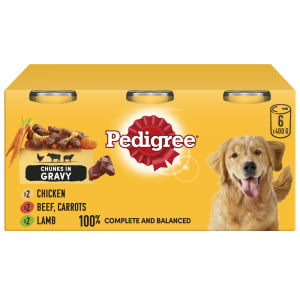 Pedigree Adult Wet Dog Food Tins - Country Casseroles in Gravy