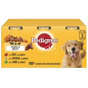 Pedigree Adult Wet Dog Food Tins - Meaty Meals in Jelly
