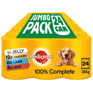 Pedigree Adult Wet Dog Food Tins - Mixed Selection in Jelly
