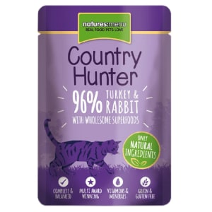 Natures Menu Country Hunter Wet Cat Food Pouch - Turkey & Rabbit
