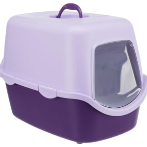 Trixie Vico Cat Litter Tray with Dome in Purple/Lilac