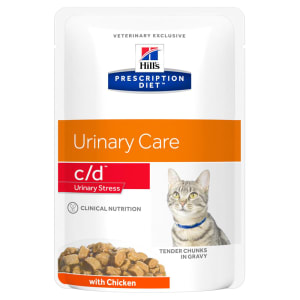 Hill's Prescription Diet Urinary Care c/d Urinary Stress Adult Wet Cat Food - Chicken