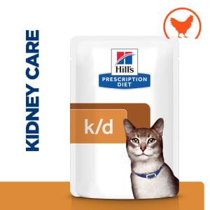 Hill's Prescription Diet Kidney Care k/d Adult/Senior Wet Cat Food in Gravy - Chicken