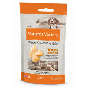 Nature's Variety Freeze Dried Meat Bites Adult Dog Treats - Chicken