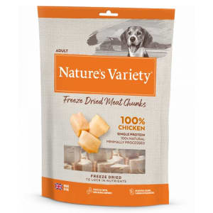 Nature's Variety  Freeze Dried Meat Chunks Adult Dog Treats - Chicken