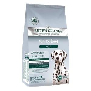 Arden Grange Dog Sensitive Grain Free Adult Dry Dog Food - Ocean White Fish & Potato