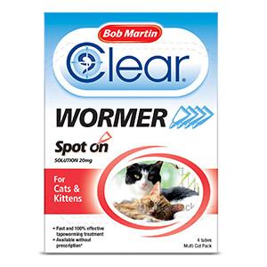 Bob Martin Clear Spot On Wormer for Cat & Kittens