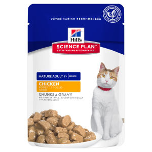 Hill's Science Plan Feline Mature Adult 7+ Tender Chunks in Gravy