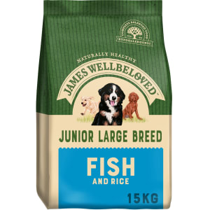James Wellbeloved Large Junior Dry Dog Food - Fish & Rice