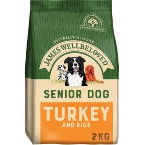 James Wellbeloved Large and Medium Senior Adult Dry Dog Food - Turkey & Rice