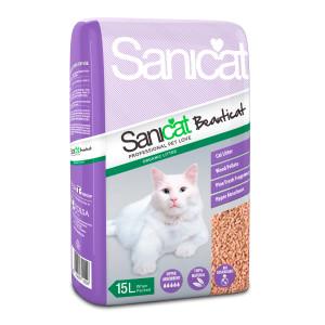 Sanicat Beauticat Natural Wood Pellets Non-Clumping Cat Litter