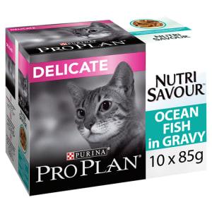 Purina Pro Plan NutriSavour Delicate Adult Wet Cat Food - Ocean Fish in Gravy