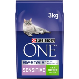 Purina ONE Sensitive Dry Cat Food Turkey and Rice 3kg