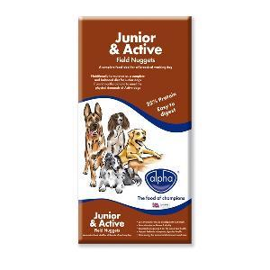 Alpha Dog Food Junior / Active Field Nuggets