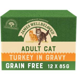 James Wellbeloved Grain Free Adult Turkey Wet Cat Food Pouches