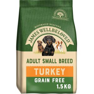 James Wellbeloved Grain Free Small Adult Dry Dog Food - Turkey & Vegetables
