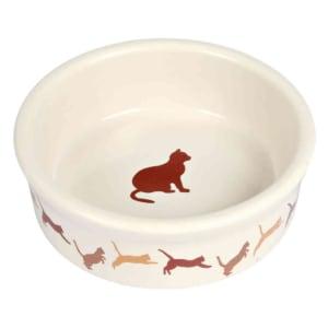 Trixie Ceramic Cat Bowl wuth Cat Print