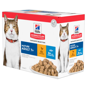 Hill's Science Plan Feline Mature Adult Favourite Selection Pouches