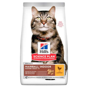 Hill's Science Plan Mature Adult Hairball Indoor Dry Cat Food Chicken