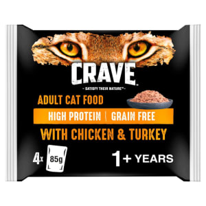 Crave Adult Pouch Wet Cat Food - Chicken & Turkey in Loaf