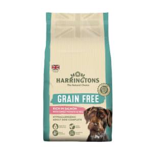 Harringtons Grain Free Junior & Adult Dry Dog Food - Salmon & Sweet Potato