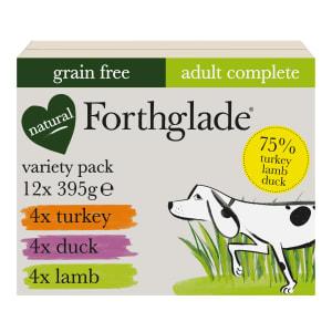 Forthglade Complete Grain Free Adult Wet Dog Food Variety Case